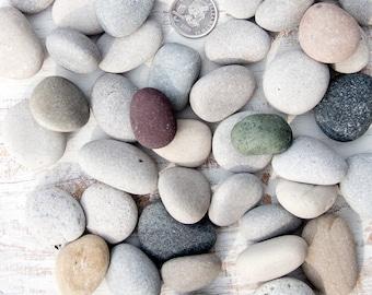 Small/Medium beach stones (100), Bulk stones, Nature crafts, Rock craft supplies, Wedding stones, Aquarium pebbles, Lake Huron