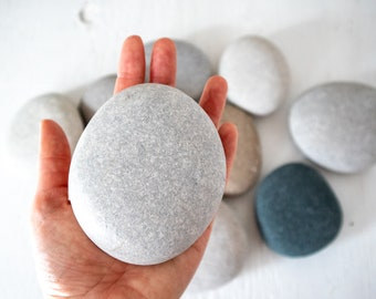 Extra Large Smooth Rocks (10), Beach Stones, Nature crafts, Rocks for Painting, Wedding stones, Lake Huron