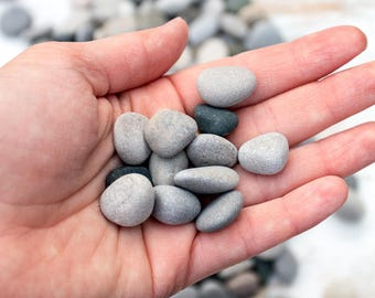 Mini beach pebbles (200), Bulk stones, Nature crafts, Rock craft supplies, Painted rocks, Wedding stones, Aquarium pebbles, Lake Huron