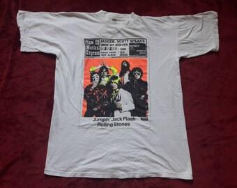 Vintage 1990 The Rolling Stones Tee Vtg 90s 1990s Heavy Metal Rock N Roll T Shirt Tshirt Deep Purple Budgie Judas Priest Zeppelin Saxon