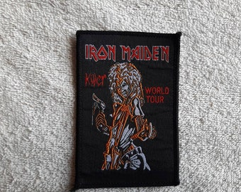 Vintage 1981 Iron Maiden Patch Vtg 80s 1980s Heavy Metal NWOBHM Motorhead Saxon Diamond Head Budgie Deep Purple Def Leppard Judas Priest