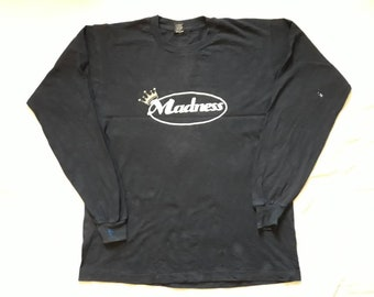 Vintage 1992 Madness Tour Long Sleeve . Vtg 90s 1990s Ska Concert Tee LS The Specials Bad Manners