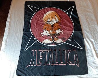 Vintage 1999 Metallica Poster Flag Vtg 90s 1990s Thrash Metal Sepultura Megadeth Anthrax Testament Overkill Helloween Suicidal Slayer