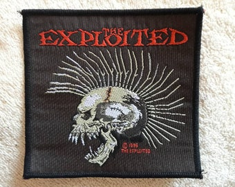 Vintage 1996 The Exploited Patch . Vtg 90s 1990s Hardcore Punk Sex Pistols Rancid GBH Dr and the Crippins