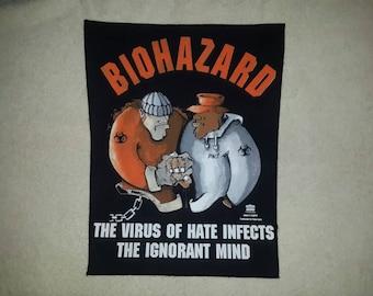 Vintage 1994 Biohazard Back Patch Backpatch