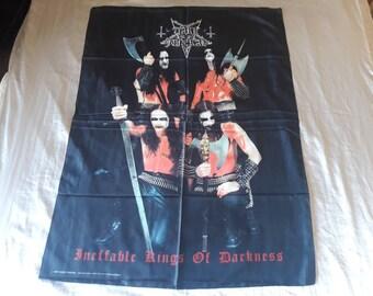 Vintage 1999 Dark Funeral  Poster Flag Vtg 90s 1990s Death Metal Death Deicide Cannibal Corpse Morbid Angel Napalm Death Carcass