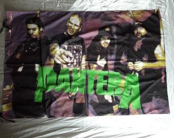 Vintage 1993 Pantera Poster Flag Vtg 90s 1990s Rap Thrash Metal Dimebag Sepultura Agnostic Front Mucky Pup Cro Mags Dog Eat Biohazard RATM
