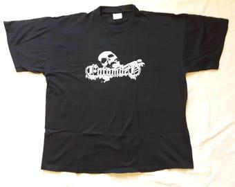 Vintage 1990s Entombed Promo Tee . Vtg 90s Death Metal Tshirt Dismember Massacre Earache