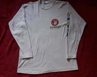 Vintage 1994 Dynamo Open Air Festival Long Sleeve T Shirt Vtg 90s 1990s LS Thrash Metal Concert Tour Tshirt Tee Anthrax Suicidal