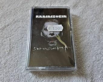 Vintage 1997 Rammstein Cassette Tape Vtg 90s 1990s Thrash Nu Metal Korn Slipknot Deftones SOAD Linkin Park Limp Bizkit Vollbeat