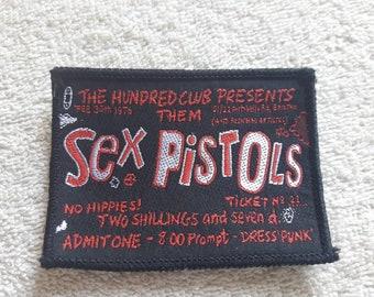 Vintage 1990s Sex Pistols Patch Vtg 90s Hardcore Punk GBH Oi Discharge Crass Exploited Rancid UK Subs Vibrators Plasmatics DOA
