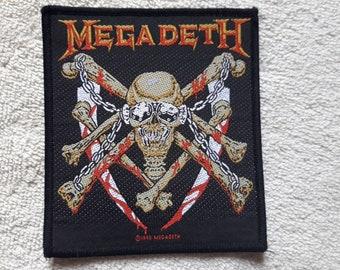 Vintage 1993 Megadeth Patch . Vtg 90s 1990s Thrash Metal Woven Slayer Metallica