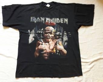 Vintage Rare 1995 Iron Maiden Tour T Shirt . Vtg 1990s 90s Heavy Metal Tee X Factor NWOBHM Wolfsbane