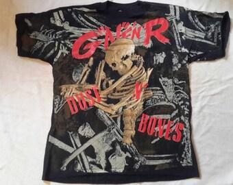 Vintage 1992 Guns N Roses T Shirt . Vtg 90s 1990s Heavy Metal Tee Metallica Slash Motley Crue Poison OVP Allover Print