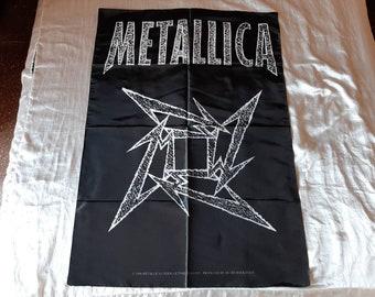 Vintage 1996 Metallica Poster Flag Vtg 90s 1990s Thrash Metal Sepultura Megadeth Anthrax Testament Overkill Helloween Suicidal Slayer