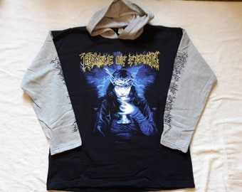 Vintage 1998 Cradle Of Filth Hoodie . Vtg 90s 1990s Death Metal Crewneck  Obituary Venom Burzum Immortal Bathory