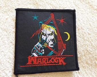 Vintage 1980 Warlock Patch . Vtg 80s 1980s Heavy Metal NWOBHM Motorhead Def Leppard