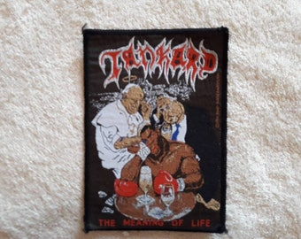 Vintage 1991 Tankard Patch . Vtg 90s 1990s Thrash Metal Helloween Kreator Destruction Sodom