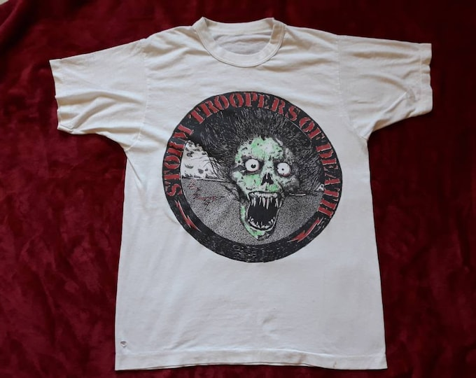 Featured listing image: Vintage Rare 1985 S.O.D. T Shirt Vtg 80s 1980s Thrash Metal  Tee Tshirt M.O.D. Billy Milano Anthrax Nuclear Assault Crossover D.R.I.