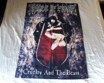 Vintage 1998 Cradle of Filth  Poster Flag Vtg 90s 1990s Death Metal Death Deicide Cannibal Corpse Morbid Angel Napalm Death Carcass