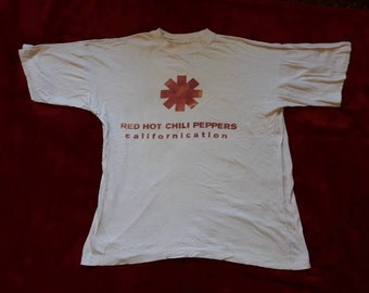 Vintage 1999 Red Hot Chili Peppers Promo T Shirt . Vtg 90s 1990s Grunge Concert Tee  Mudhoney Soundgarden Tad L7 Hole Breeders RHCP Primus