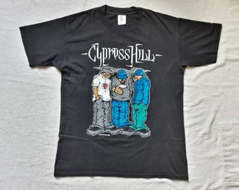 Vintage 1992 Cypress Hill T Shirt Vtg 90s 1990s Hip Hop Rap Tee House of Pain De La Soul Fugees NWA Dr Dre J5 Notorious Snoop