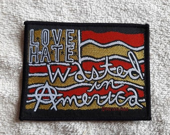 Vintage 1992 Love Hate Patch Vtg 80s 1980s Heavy Metal Cinderella Quiet Riot Ratt Bang Tango Faster Pussycat LA Guns Winger Vain