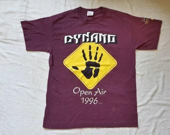 Vintage 1996 Dynamo Open Air Festival T Shirt Vtg 90s 1990s Thrash Metal Concert Tour Tee Voivod Gorefest Pennywise Pitch Shifter Slapshot
