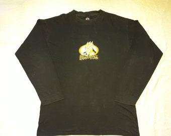 Vintage 1996 Gogeta Long Sleeve  Tshirt . Vtg 1990s 90s Manga Dragon Ball Goku Comic Con Japan Animation Tee T shirt LS