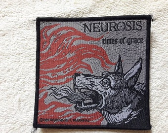 Vintage 90s Neurosis Patch . Vtg 1990s Hardcore Punk Melvins Godflesh
