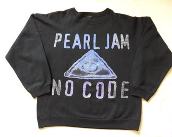 Vintage 1996 Pearl Jam Tour Sweater Vtg 90s 1990s Grunge Indie Crewneck Sweatshirt Nirvana Dinosaur Jr. Alice in Chains Sonic Youth