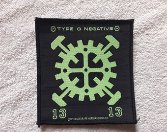Vintage 1993 Type O Negative Patch . Vtg 90s 1990s Heavy Gothic Metal Danzig Nine Inch Nails Machine Head