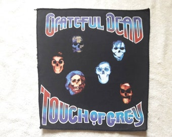 Vintage 1987 Grateful Dead Back Patch Vtg 80s 1980s Hard Rock Backpatch BP