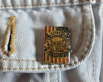 Vintage 90s Guns N Roses Pin Vtg 1990s Heavy Metal Axl Slash Metallica Button Badge Motley Crue Skid Row Accept Rush Judas Priest