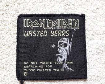 Vintage 1986 Iron Maiden Patch . Vtg 80s 1980s Heavy Metal NWOBHM Motorhead Saxon