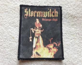 Vintage 1989s Stormwitch Patch . Vtg 80s 1980s Heavy Metal Motorhead Saxon Scorpions Queensryche