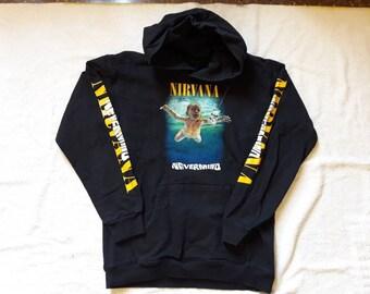 Vintage 90's Bootleg Nirvana Hoodie Vtg 1990s Grunge Kurt Cobain Soundgarden Mudhoney Tad Butthole Surfers Hole Dinosaur Jr