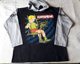 Vintage 1998 The Offspring Hoodie Sweater Vtg 90s 1990s Hardcore Pop Metal Punk Pullover Green Day NOFX Rancid Korn Pennywise Lagwagon
