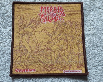Vintage 1993 Morbid Angel Patch . Vtg 90s 1990s Death Doom Metal Cannibal Corpse Carcass Dismember Napalm Death