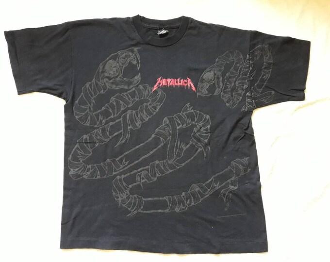 Featured listing image: Vintage Rare 1992 Metallica T Shirt . Vtg 90s 1990s Thrash Metal Tee Allover Print Megadeth Anthrax Slayer OVP