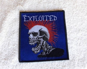 Vintage 1994 The Exploited Patch Vtg 90s 1990s Hardcore Punk Sex Pistols Rancid GBH Dr and the Crippins UK Subs Ramones Fear Buzzcocks
