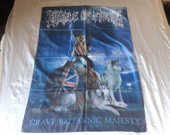 Vintage 1997 Cradle of Filth  Poster Flag Vtg 90s 1990s Death Metal Death Deicide Cannibal Corpse Morbid Angel Napalm Death Carcass