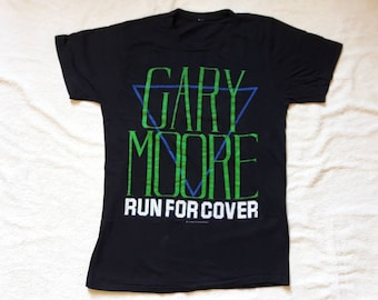 Vintage Rare 1985 Gary Moore Tour T Shirt . Vtg 80s 1980s Hard Rock Concert Tee Iron Maiden Rory Gallagher Hawkwind Thin Lizzy Cream