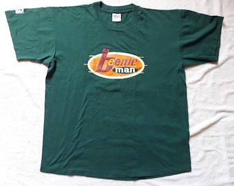 Vintage Rare 1995 Beenie Man Tee . Vtg 90s 1990s Ska Reggae Allover Print Tshirt T Shirt Elephant Man Sean Paul Lee Perry