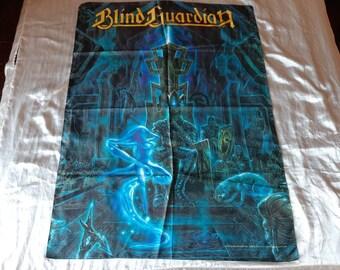 Vintage 1999 Blind Guardian Poster Flag Vtg 90s 1990s Hardcore Thrash Power Metal Helloween Edguy Overkill Testament Manowar