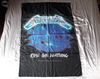 Vintage 1994 Metallica Poster Flag Vtg 90s 1990s Thrash Metal Sepultura Megadeth Anthrax Testament Overkill Helloween Suicidal Slayer