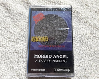 Vintage 1989 Morbid Angel Cassette Vtg 80s 1980s Death Metal Tape Earache Records Carcass Deicide Godflesh Suffocation Autopsy Entombed