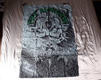 Vintage 1992 The Almighty Poster Flag Vtg 90s 1990s Thrash Heavy Metal Guns n Roses Testament Overkill Helloween Metallica