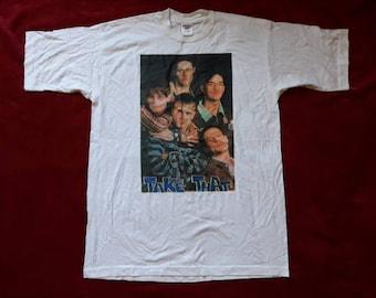 Vintage 1995 Take That T Shirt Vtg 90s 1990s Pop Boy Band Tee Tshirt East 17 New Kids on The Block Westlife Boyzone
