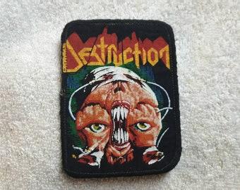 Vintage 1987 Destruction Patch . Vtg 80s 1980s Thrash Metal Slayer Metallica Megadeth Anthrax Sepultura